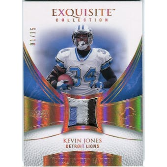 2007 Upper Deck Exquisite Collection Patch Spectrum #KJ Kevin Jones 1/15