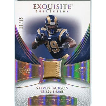 2007 Upper Deck Exquisite Collection Patch Spectrum #SJ Steven Jackson 11/15