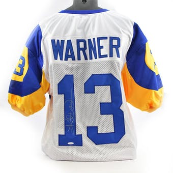 Kurt Warner St. Louis Rams Custom Jersey TriStar COA #719286 (Reed Buy)