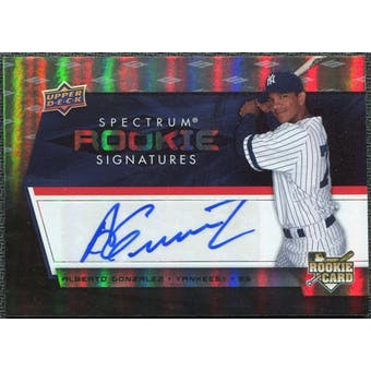 2008 Upper Deck Spectrum #101 Alberto Gonzalez Autograph RC