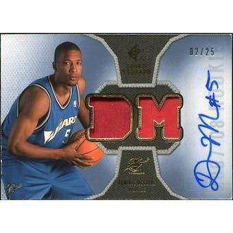 2007/08 Upper Deck SP Rookie Threads Patch Autographs #RTDM Dominic McGuire /25