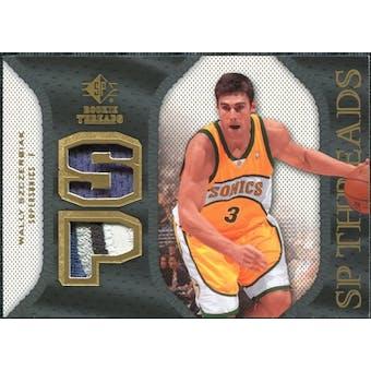 2007/08 Upper Deck SP Rookie Threads Patch #SPWS Wally Szczerbiak