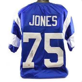 Deacon Jones Los Angeles Rams Custom Jersey Leaf Authentics COA #18916 (Reed Buy)