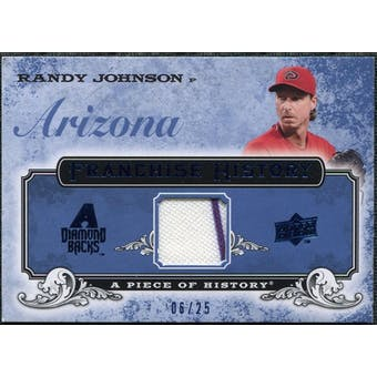 2008 UD A Piece of History Franchise History Jersey Blue #FH2 Randy Johnson /25
