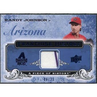 2008 UD A Piece of History Franchise History Jersey Blue #FH2 Randy Johnson /25