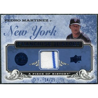 2008 UD A Piece of History Franchise History Jersey Blue #FH32 Pedro Martinez /25