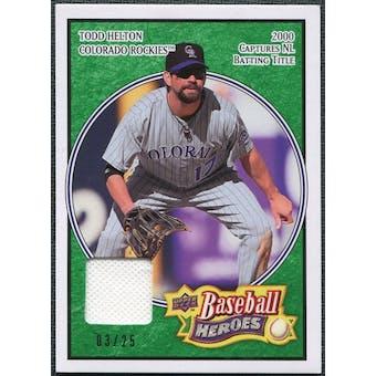 2008 Upper Deck Heroes Jersey Emerald #59 Todd Helton /25