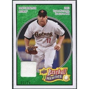 2008 Upper Deck Heroes Jersey Emerald #74 Lance Berkman /25