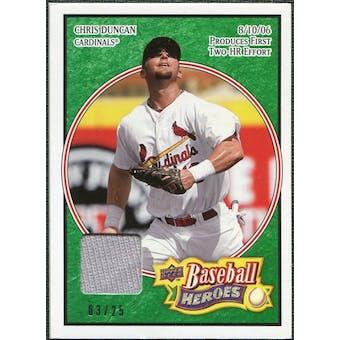 2008 Upper Deck Heroes Jersey Emerald #159 Chris Duncan /25