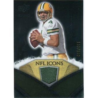2008 Upper Deck Icons NFL Icons Jersey Silver #NFL8 Brett Favre /150