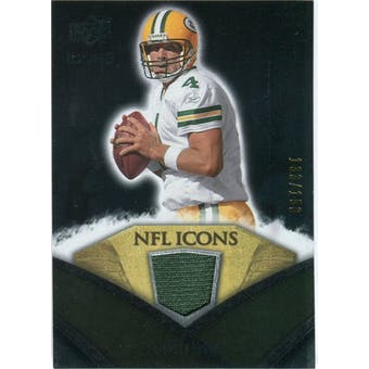 2008 Upper Deck Icons NFL Icons Jersey Silver #NFL8 Brett Favre /150