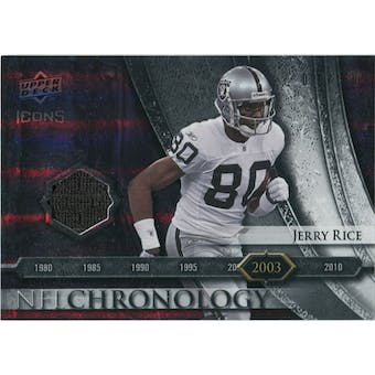 2008 Upper Deck Icons NFL Chronology Jersey Silver #CHR31 Jerry Rice /150