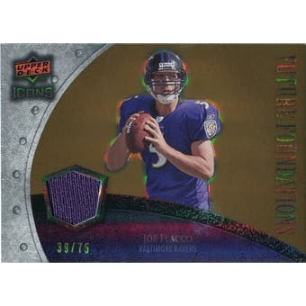 2008 Upper Deck Icons Future Foundations Jersey Gold #FF16 Joe Flacco /75