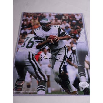 Roman Gabriel Philadelphia Eagles Autographed Football 8x10 Photo JSA COA #HH11574 (Reed Buy)