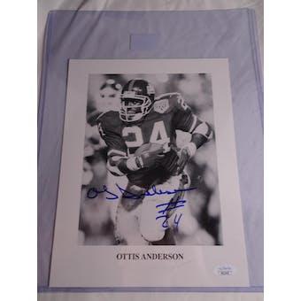 Ottis Anderson New York Giants Autographed Football Photo JSA COA #HH11626 (Reed Buy)