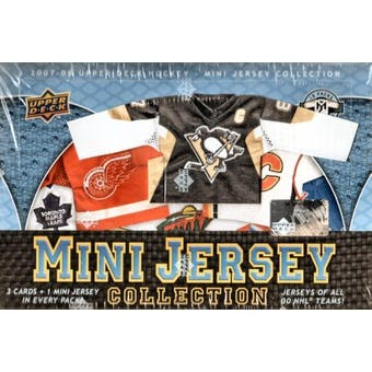 2007/08 Upper Deck Mini Jersey Hockey Hobby Box