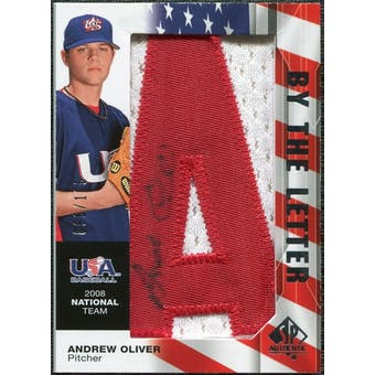 2008 Upper Deck SP Authentic USA National Team By the Letter Autographs #AO Andrew Oliver /105