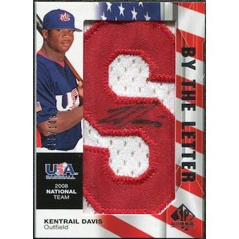 2008 Upper Deck SP Authentic USA National Team By the Letter Autographs #KD Kentrail Davis /103