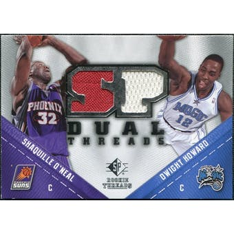 2008/09 Upper Deck SP Rookie Threads Dual #TDHO Shaquille O'Neal Dwight Howard