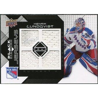 2008/09 Upper Deck Black Diamond Jerseys Quad #BDJHL Henrik Lundqvist