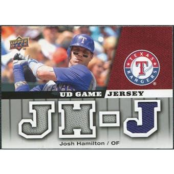 2009 Upper Deck UD Game Jersey #GJHJ Josh Hamilton