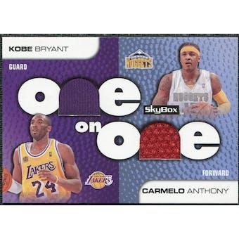 2008/09 SkyBox One on One Dual Memorabilia #OOBA Carmelo Anthony Kobe Bryant