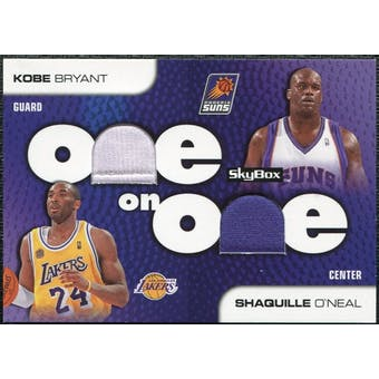 2008/09 SkyBox One on One Dual Memorabilia #OOBO Shaquille O'Neal Kobe Bryant