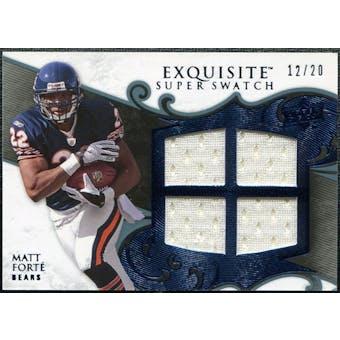 2008 Upper Deck Exquisite Collection Super Swatch Blue #SSMF Matt Forte /20