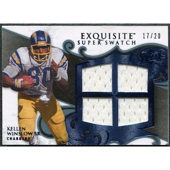 2008 Upper Deck Exquisite Collection Super Swatch Blue #SSWI Kellen Winslow Sr. /20