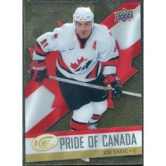 2008/09 Upper Deck Ice Pride of Canada #GOLD10 Joe Sakic