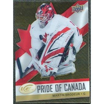 2008/09 Upper Deck Ice Pride of Canada #GOLD14 Martin Brodeur