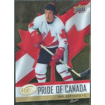 2008/09 Upper Deck Ice Pride of Canada #GOLD18 Phil Esposito