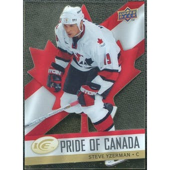 2008/09 Upper Deck Ice Pride of Canada #GOLD20 Steve Yzerman