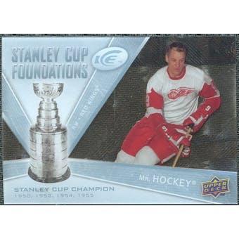 2008/09 Upper Deck Ice Stanley Cup Foundations #SCFGH Gordie Howe