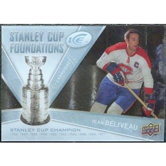 2008/09 Upper Deck Ice Stanley Cup Foundations #SCFJB Jean Beliveau