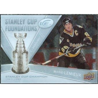 2008/09 Upper Deck Ice Stanley Cup Foundations #SCFML Mario Lemieux