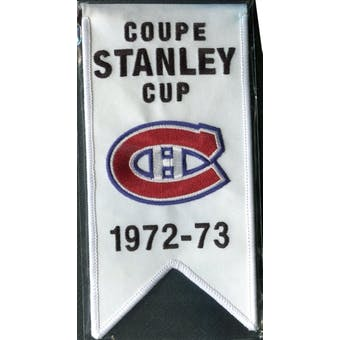 2008/09 Upper Deck Montreal Canadiens Mini Banners 1972-73 Stanley Cup
