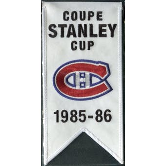 2008/09 Upper Deck Montreal Canadiens Mini Banners 1985-86 Stanley Cup