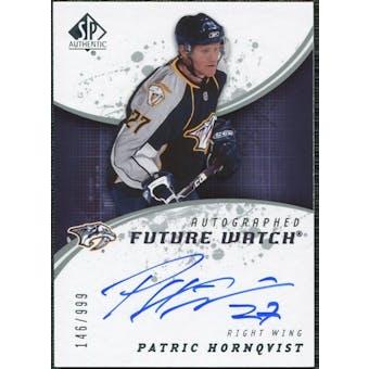 2008/09 Upper Deck SP Authentic #205 Patric Hornqvist RC Autograph /999