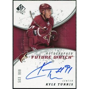 2008/09 Upper Deck SP Authentic #246 Kyle Turris RC Autograph /999