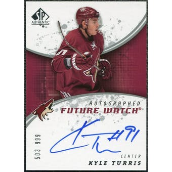 2008/09 Upper Deck SP Authentic #246 Kyle Turris RC Autograph /999