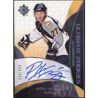 2008/09 Upper Deck Ultimate Collection #85 Patric Hornqvist Rookie Autograph /399