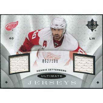 2008/09 Upper Deck Ultimate Collection Ultimate Jerseys #UJHZ Henrik Zetterberg /100