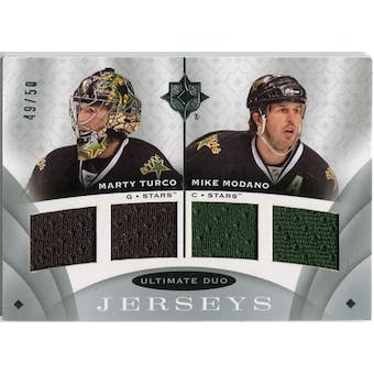2008/09 Upper Deck Ultimate Collection Ultimate Jerseys Duos #UJ2MT Marty Turco Mike Modano /50