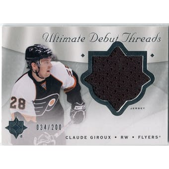 2008/09 Upper Deck Ultimate Collection Debut Threads #DTGI Claude Giroux /200