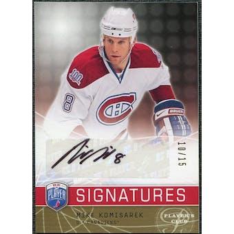 2008/09 Upper Deck Be A Player Signatures Player's Club #SMK Mike Komisarek Autograph /15