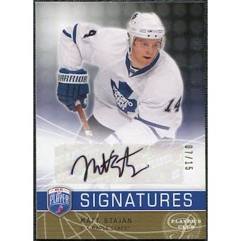 2008/09 Upper Deck Be A Player Signatures Player's Club #SST Matt Stajan Autograph /15