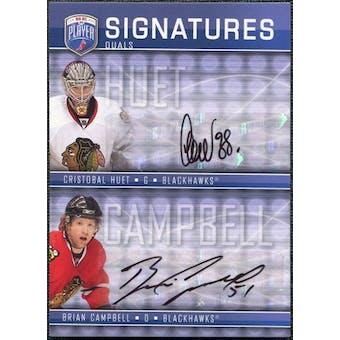 2008/09 Upper Deck Be A Player Signatures Dual #S2CH Cristobal Huet / Brian Campbell Autograph