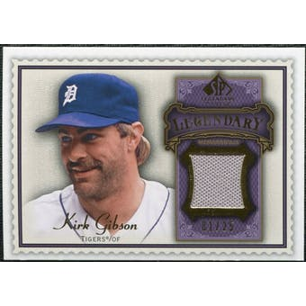 2009 Upper Deck SP Legendary Cuts Legendary Memorabilia Violet #GK2 Kirk Gibson 1/25