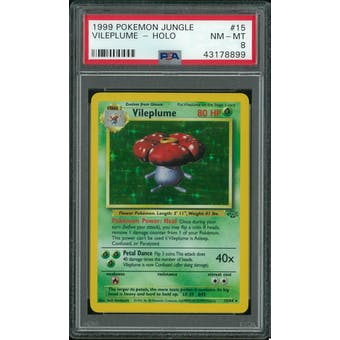 Pokemon Jungle Vileplume 15/64 PSA 8